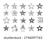 set of black vector handmade... | Shutterstock .eps vector #1746097763