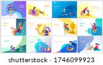 landing page template with... | Shutterstock .eps vector #1746099923