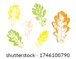 stamp of asymmetric maple leaf  ... | Shutterstock .eps vector #1746100790