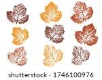 the imprint of the leaves.... | Shutterstock .eps vector #1746100976