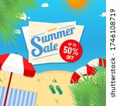 summer sale banner vector... | Shutterstock .eps vector #1746108719