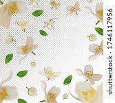 3d realistic jasmine with green ... | Shutterstock .eps vector #1746117956