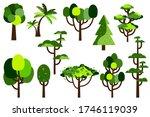 cartoon tree. collection of... | Shutterstock .eps vector #1746119039