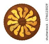 cake top view vector icon... | Shutterstock .eps vector #1746123029