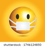 high quality emoticon on yellow ... | Shutterstock .eps vector #1746124850