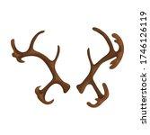 elk horn vector icon.cartoon... | Shutterstock .eps vector #1746126119