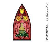 church window vector icon... | Shutterstock .eps vector #1746126140