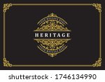 luxury ornament vintage logo... | Shutterstock .eps vector #1746134990