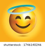 high quality emoticon on yellow ... | Shutterstock .eps vector #1746140246