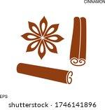 cinnamon logo. isolated... | Shutterstock .eps vector #1746141896