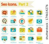 seo icons set part 2 | Shutterstock .eps vector #174614276