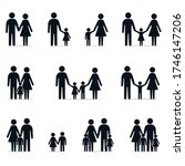 family icon set  father mother... | Shutterstock .eps vector #1746147206