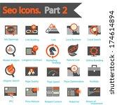 seo icons set part 2   Shutterstock .eps vector #174614894