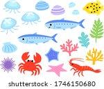 illustration set of sea... | Shutterstock .eps vector #1746150680