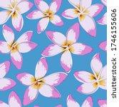 tropical flowers seamless... | Shutterstock .eps vector #1746155606