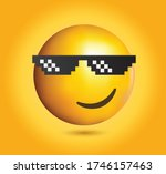 high quality emoticon on yellow ... | Shutterstock .eps vector #1746157463