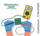 electronics repair. tester... | Shutterstock .eps vector #1746159083