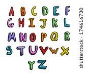 cartoon alphabet | Shutterstock .eps vector #174616730