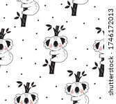 cute seamless pattern with... | Shutterstock .eps vector #1746172013