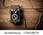 old camera retouching vintage | Shutterstock . vector #174618074