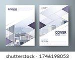 flyer design  leaflet cover... | Shutterstock .eps vector #1746198053