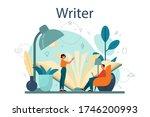 professional writer or... | Shutterstock .eps vector #1746200993
