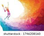 creative silhouette of tennis... | Shutterstock .eps vector #1746208160