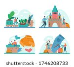 upcycling concept set. eco tips ... | Shutterstock .eps vector #1746208733
