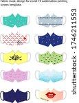 fabric mask 3d design for covid ... | Shutterstock .eps vector #1746211553