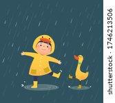 vector illustration of a happy... | Shutterstock .eps vector #1746213506