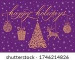 christmas decoration  happy... | Shutterstock .eps vector #1746214826