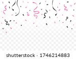 falling black and pink confetti ... | Shutterstock .eps vector #1746214883