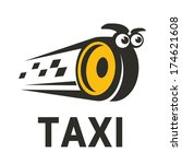 character taxi logo design... | Shutterstock .eps vector #174621608
