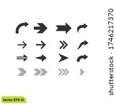 arrow icon vector set  simple...