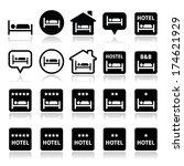 hotel  hostel  b b with stars... | Shutterstock .eps vector #174621929