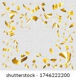 falling shiny golden confetti... | Shutterstock .eps vector #1746222200