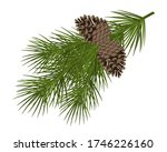 christmas tree branch with a... | Shutterstock .eps vector #1746226160