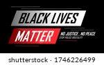 black lives matter banner for... | Shutterstock .eps vector #1746226499