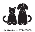 Stock vector cat and dog vector illustration 174623000
