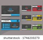 modern business cards design... | Shutterstock . vector #1746233273