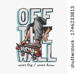 off the wall slogan with... | Shutterstock .eps vector #1746233813