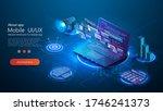 marketing vector business... | Shutterstock .eps vector #1746241373