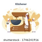 Baker And Bakery Concept. Chef...