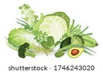 composition of vegetables.... | Shutterstock .eps vector #1746243020