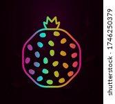 pomegranate section outline... | Shutterstock .eps vector #1746250379