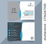 corporate agency postcard...   Shutterstock .eps vector #1746267530