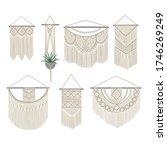 set of diy wall hanging.... | Shutterstock .eps vector #1746269249