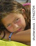 girl posing in the beach | Shutterstock . vector #17462704