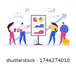 modern man and woman with... | Shutterstock .eps vector #1746274010