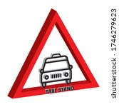 triffic sign board taxi stand... | Shutterstock .eps vector #1746279623